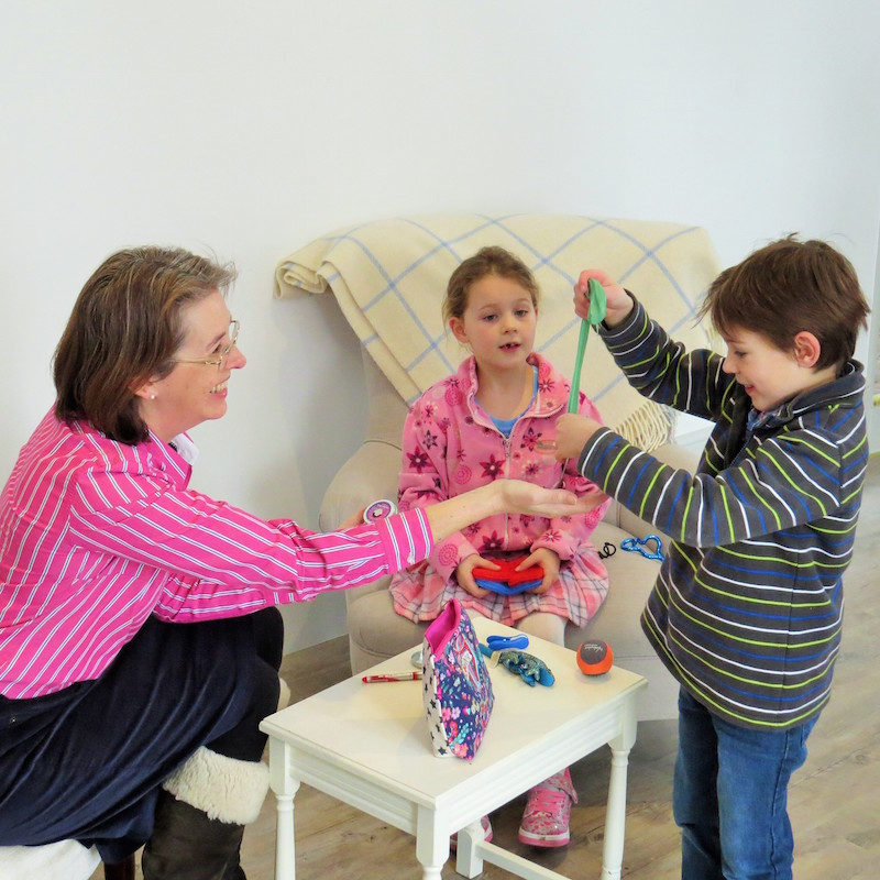 Educational Psychologist working with young boy